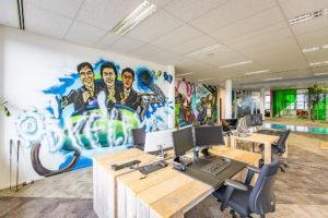 Foto kantoor Dyflexis werkplek accountmanagers en marketeers