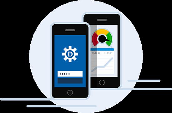 Illustratie Dyflexis mobiele app voor Android en iOS
