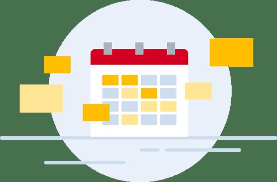 Illustratie flexibel plannen
