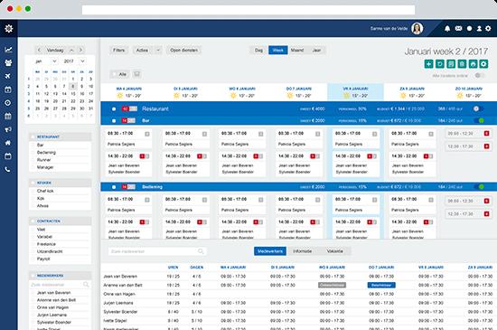 Screenshot Dyflexis personeelsplanning