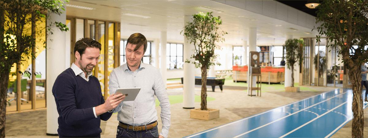 thomas en matthijs kantoor dyflexis app
