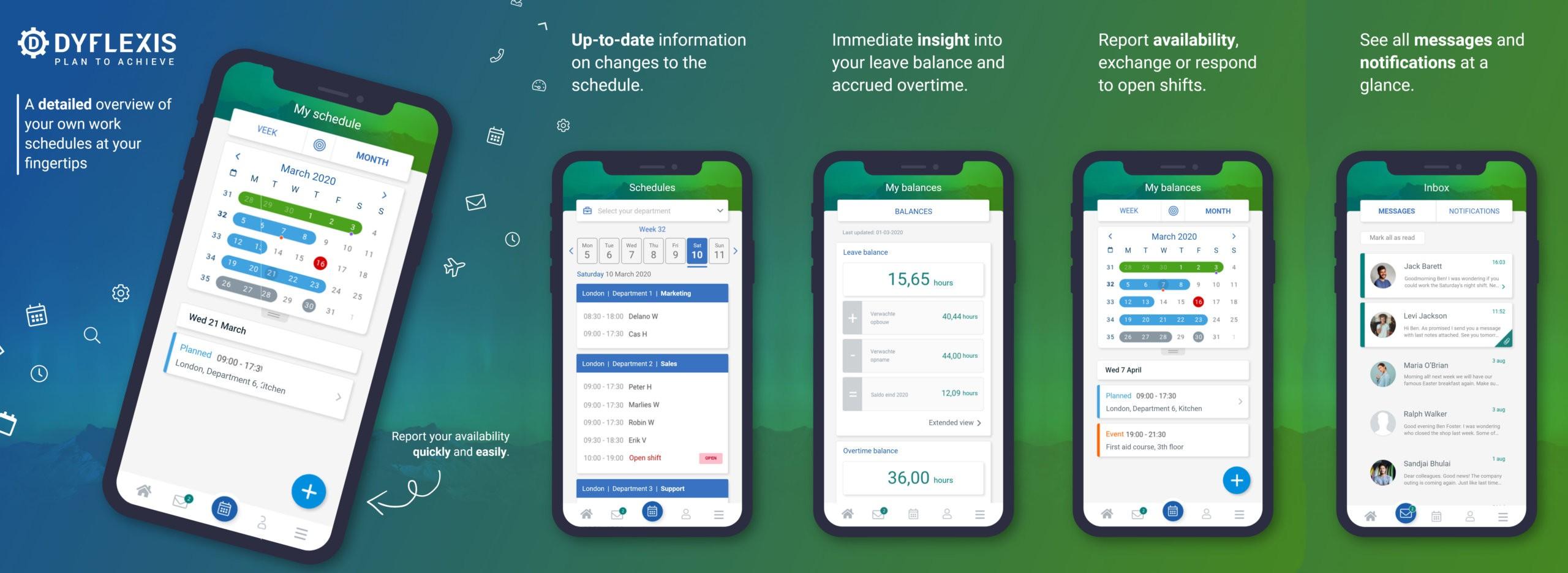 Dyflexis personeelsplanning app